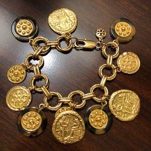 Tory Burch Shiloh Tortoise Charm Link Bracelet